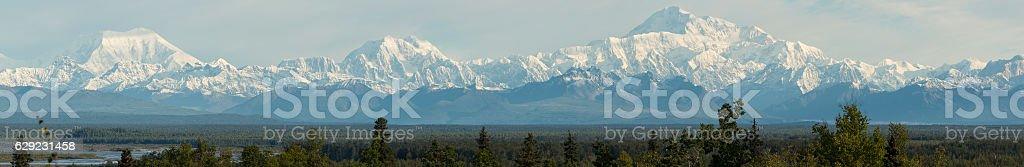 The Alaska Range from Talkeetna, Alaska. stock photo