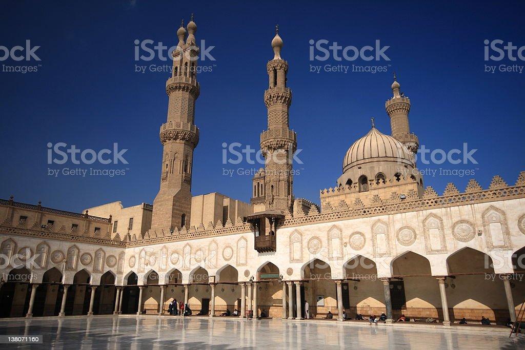 The Al-Azhar Mosque in Cairo, Egypt stock photo