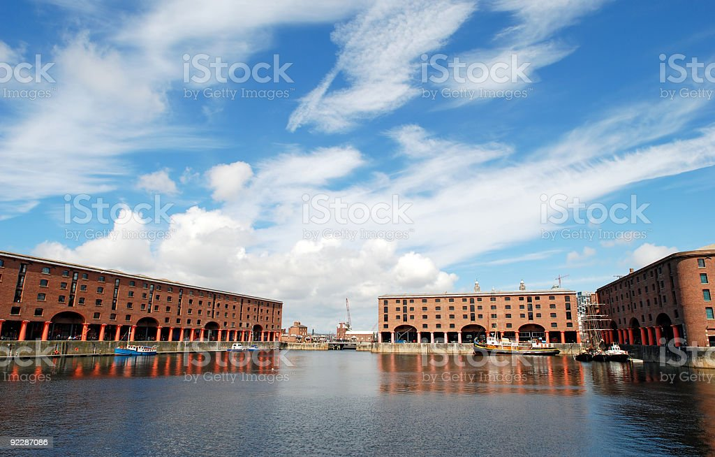 The Albert dock in Liverpool - Landscape stock photo