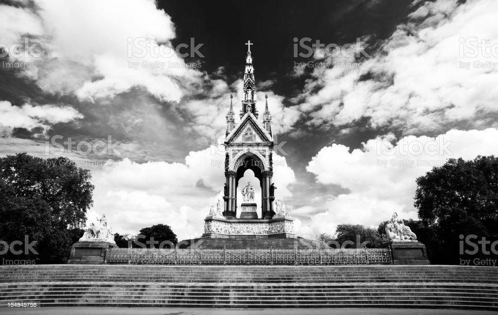 The Albert Memorial In Black & White stock photo