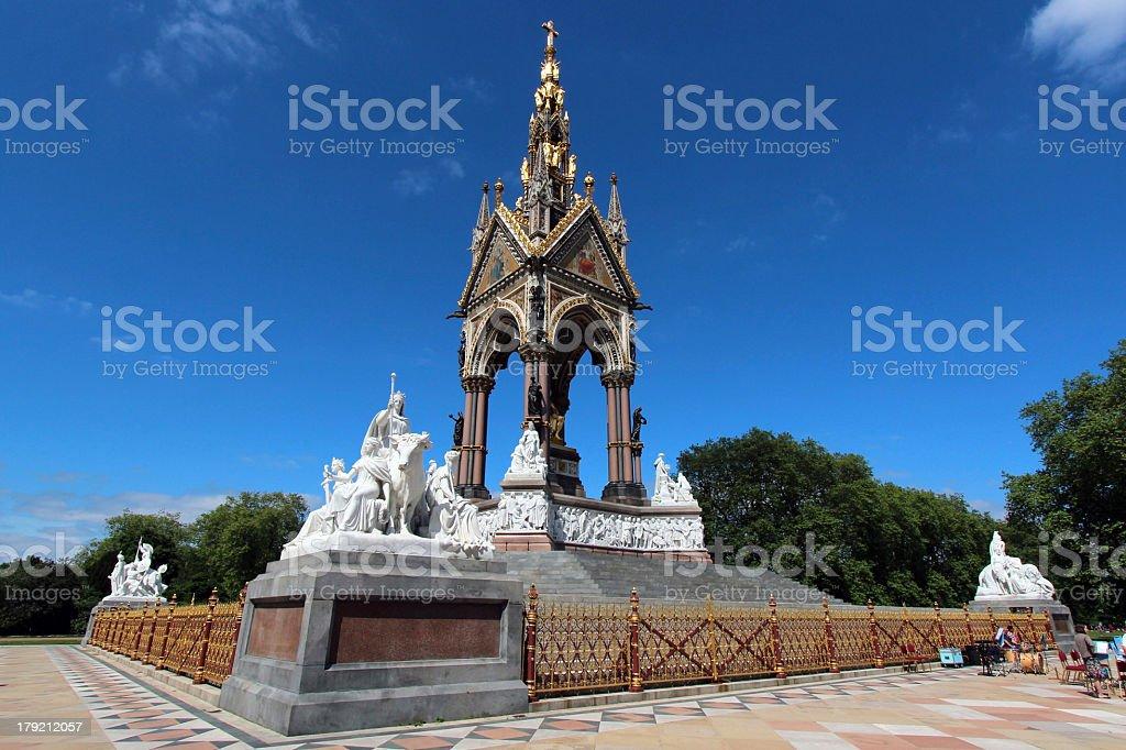 'The Albert memorial in Kensington Gardens, London' stock photo