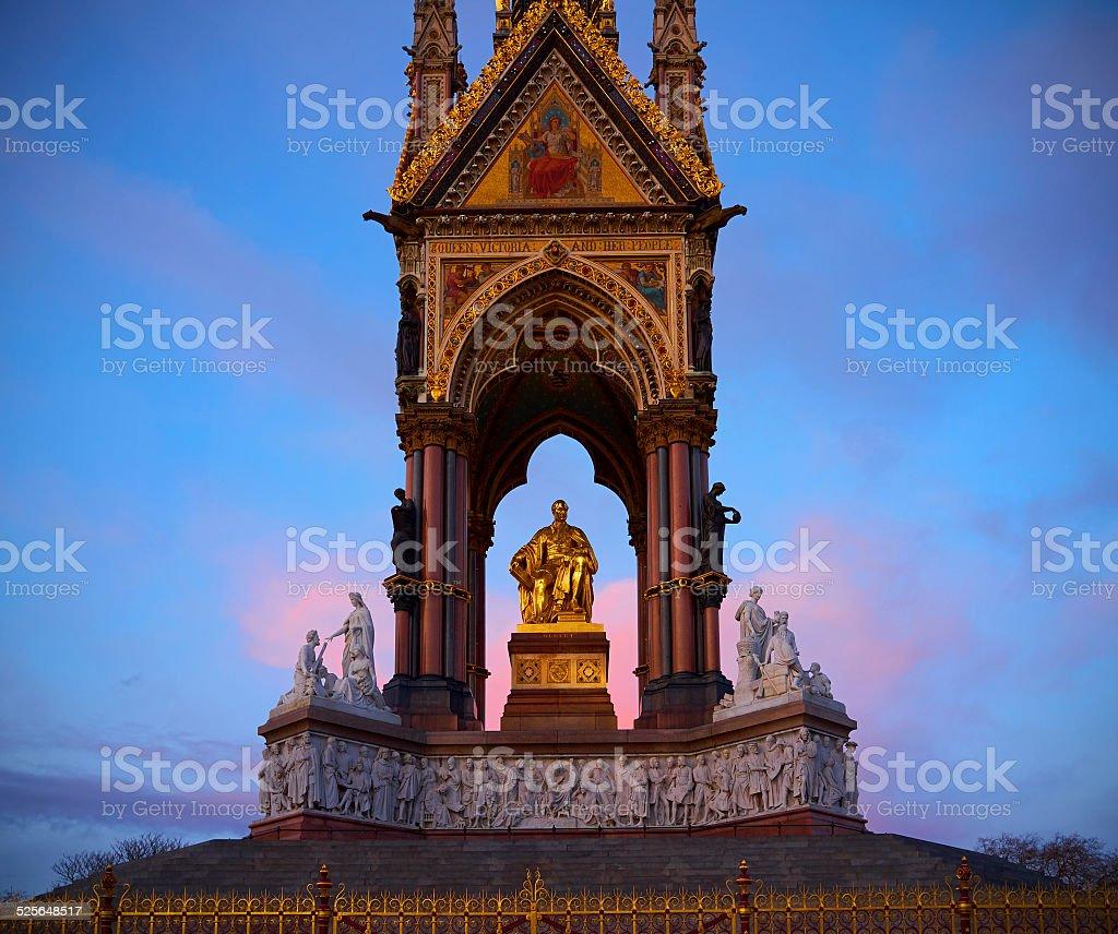 The Albert Memorial In London's Kensington Gardens stock photo