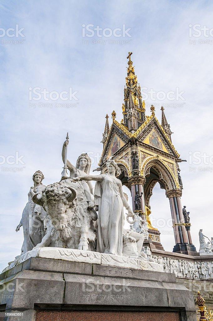 The Albert Memorial royalty-free stock photo