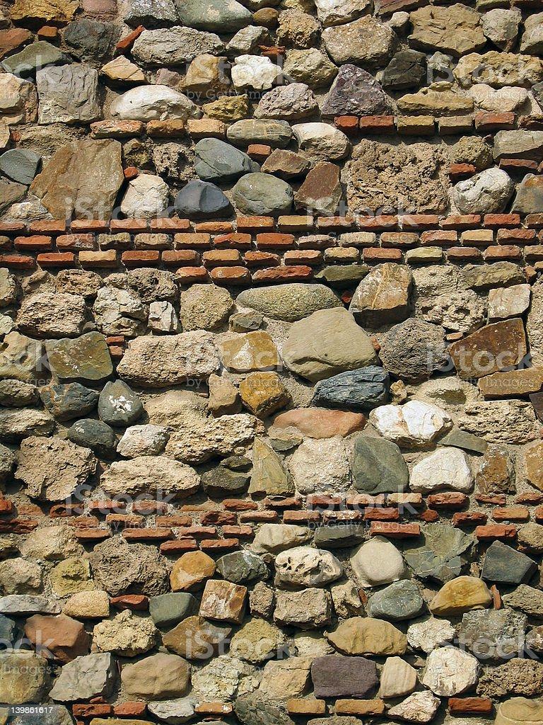 El Alcazaba - wall royalty-free stock photo