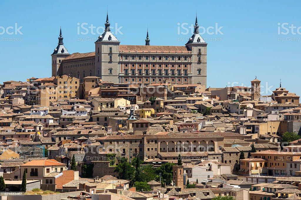 The Alcazar in Toledo in Spain stock photo