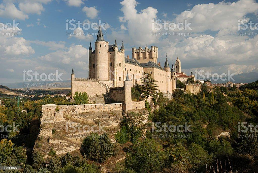 The Alcazar of Segovia, Spain stock photo