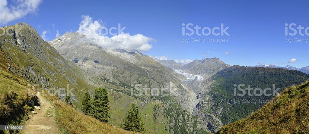 The Aletsch glacier royalty-free stock photo