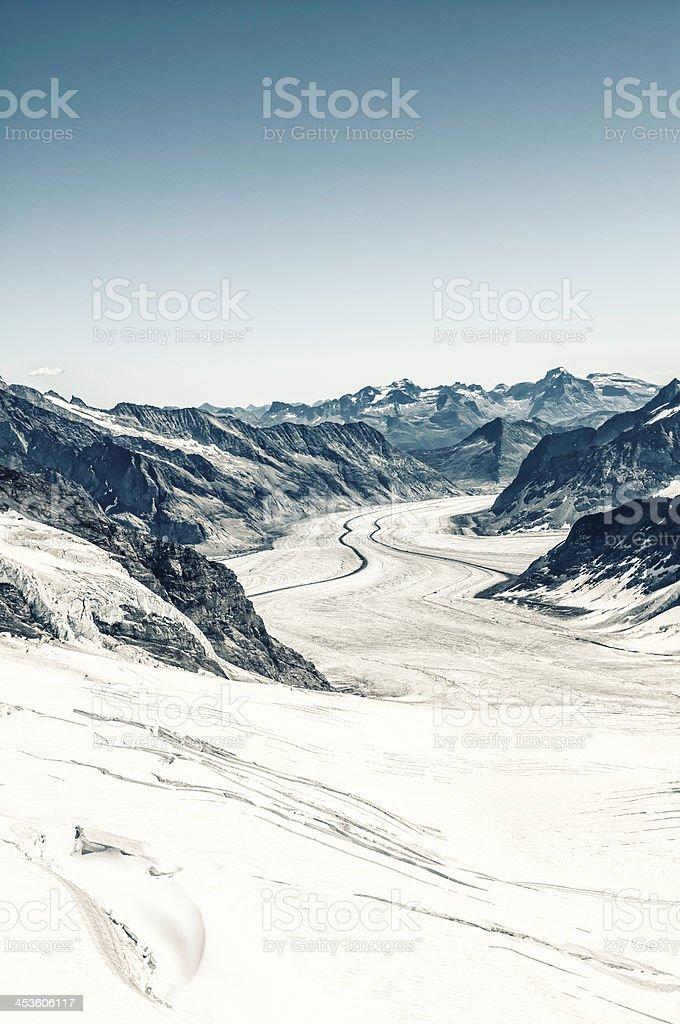 The Aletsch Glacier with Konkordiaplatz, Switzerland - II royalty-free stock photo