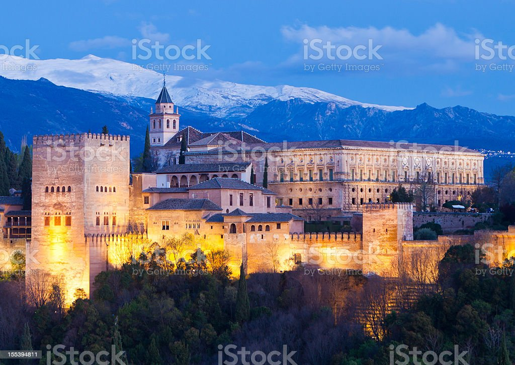 The Alhambra From Granada, Spain stock photo