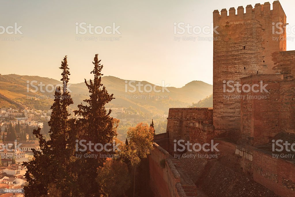 The Alhambra Palace in Granada, Spain stock photo