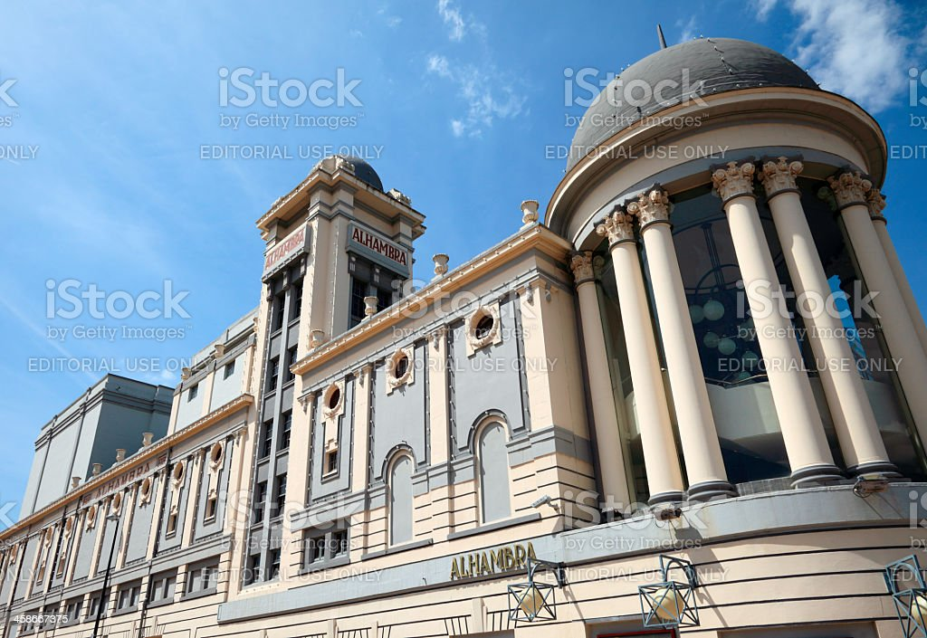 The Alhambra Theatre in Bradford royalty-free stock photo