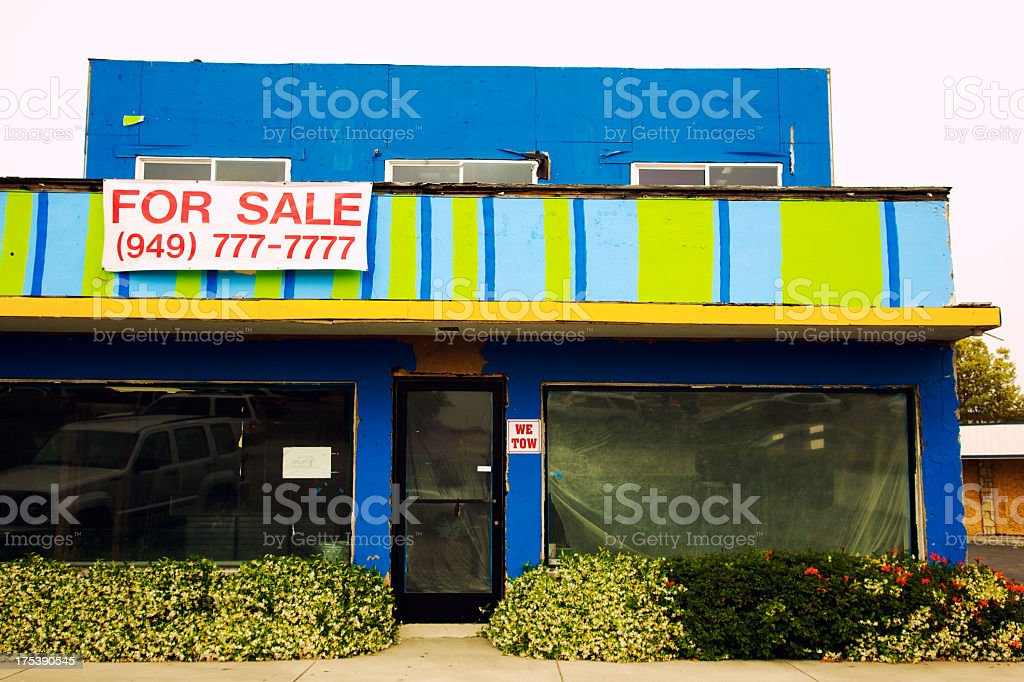 The All Sevens Closed Store stock photo