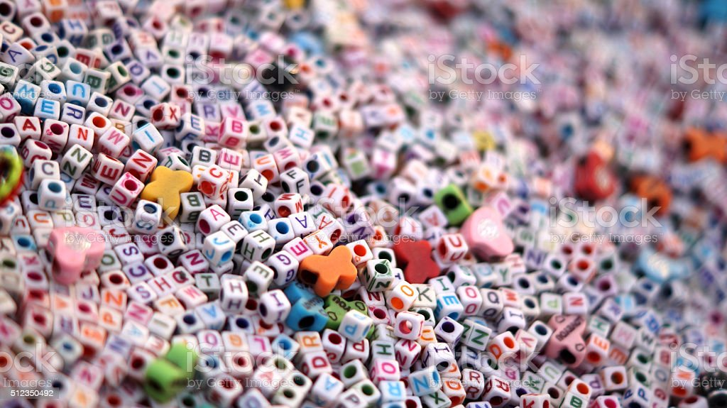 The Alphabet - colorful letters stock photo