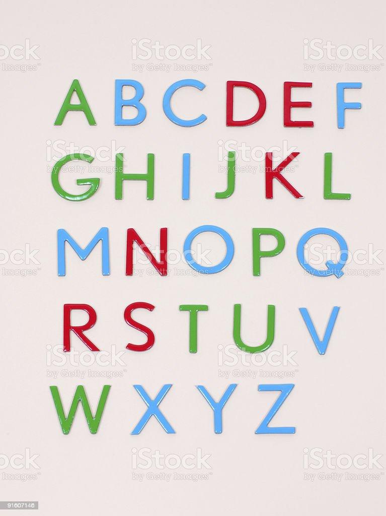 The Alphabet royalty-free stock photo