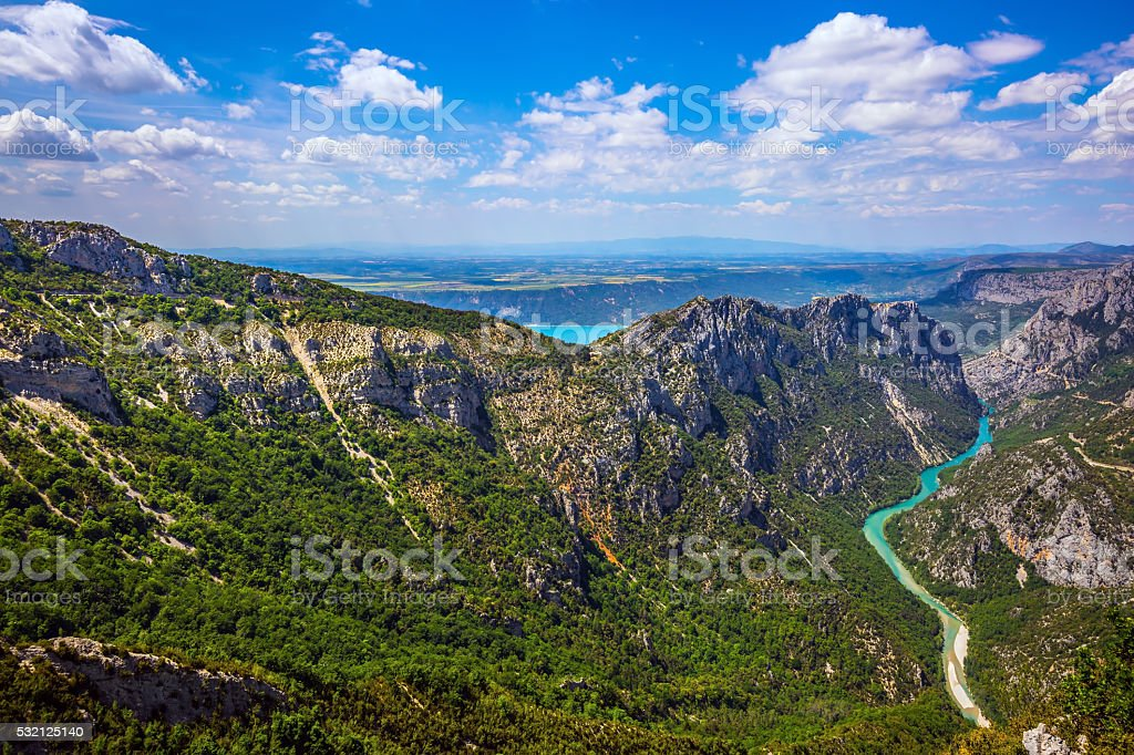 The alpine canyon Verdon stock photo