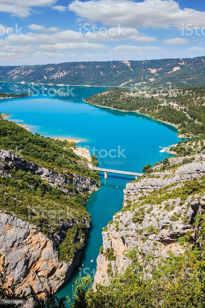 The alpine canyon Verdon spring stock photo