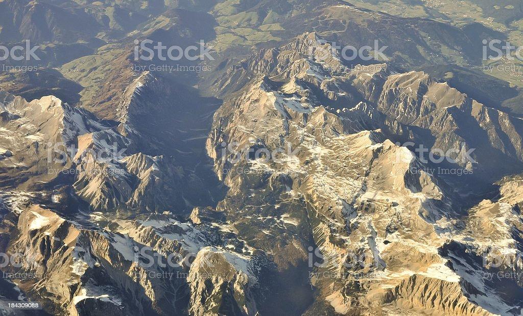 Der Alpen – Luftaufnahme Lizenzfreies stock-foto