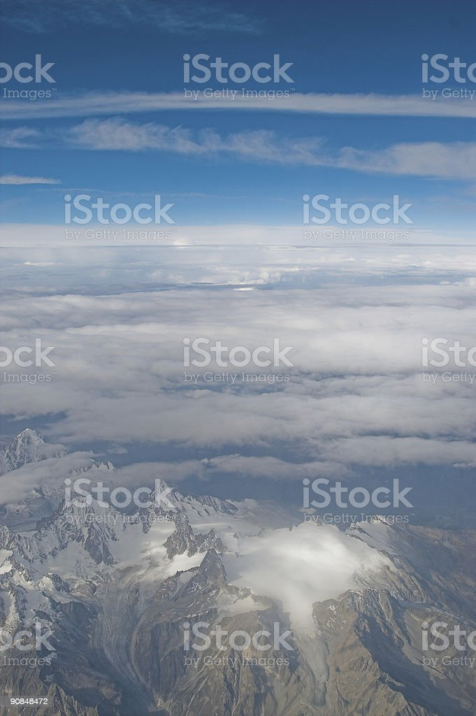 The Alps Glaciers royalty-free stock photo