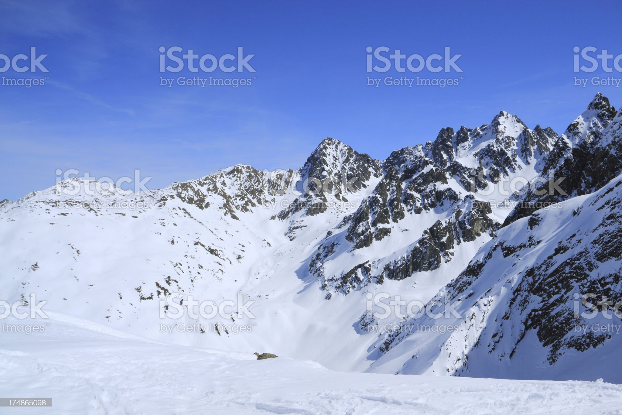 The Alps in Austria royalty-free stock photo