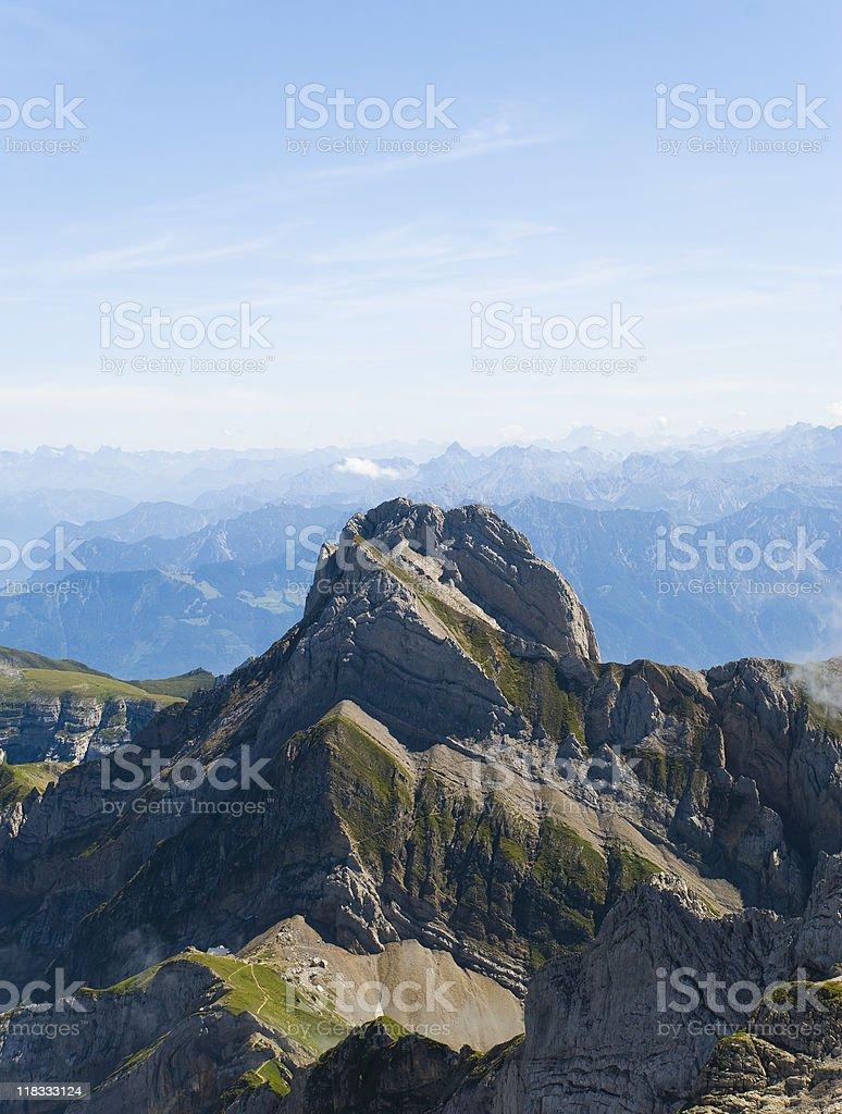 the alps in switzerland stock photo