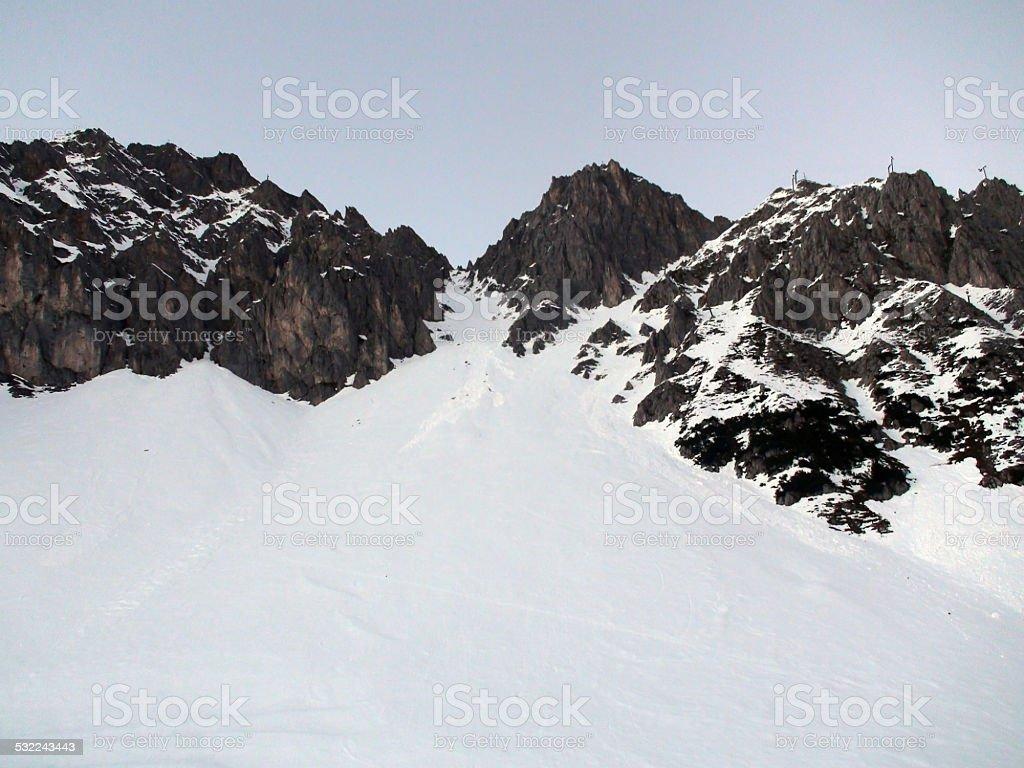 The Alps Mountains stock photo