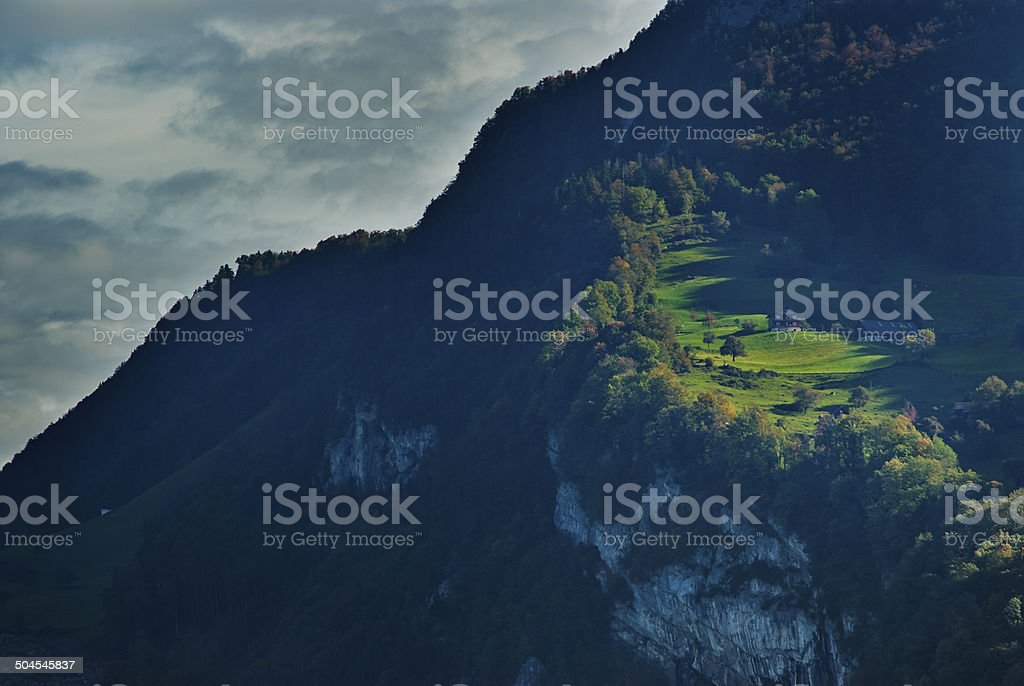 The Alps nearby Lucern stock photo