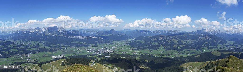 The Alps Panorama stock photo
