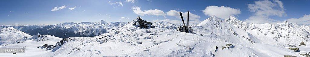 The Alps - winter panorama royalty-free stock photo