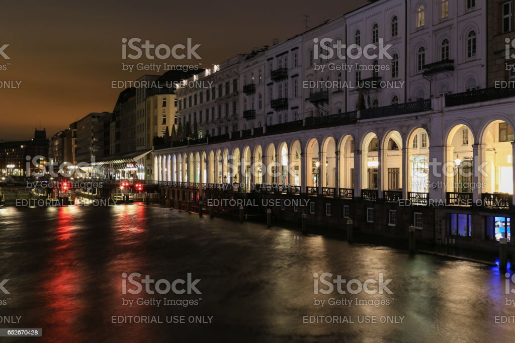The Alster Arcades stock photo