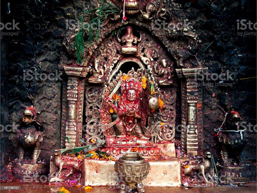 The altar for sacrifice of a Hindu God royalty-free stock photo