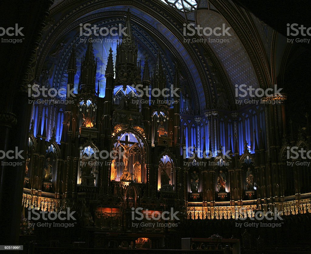 The Altar of Notre Dame, Montreal royalty-free stock photo