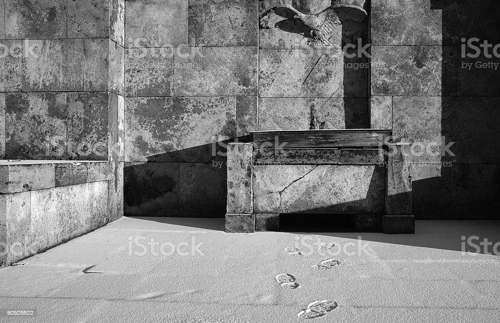 The Altar of Silent God stock photo