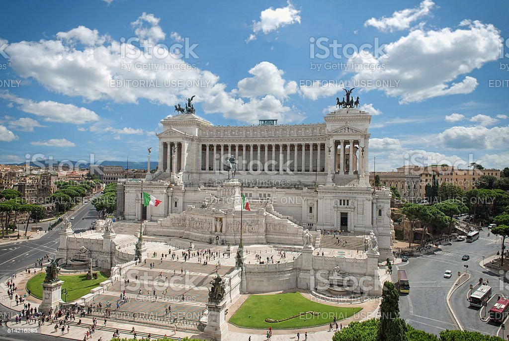 The altar of the fatherland, Vittoriano stock photo