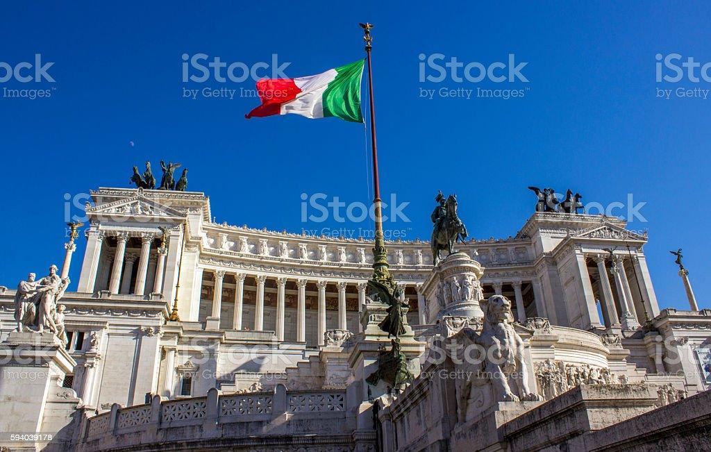 The Altare della Patria ( Altar of the Fatherland ) stock photo