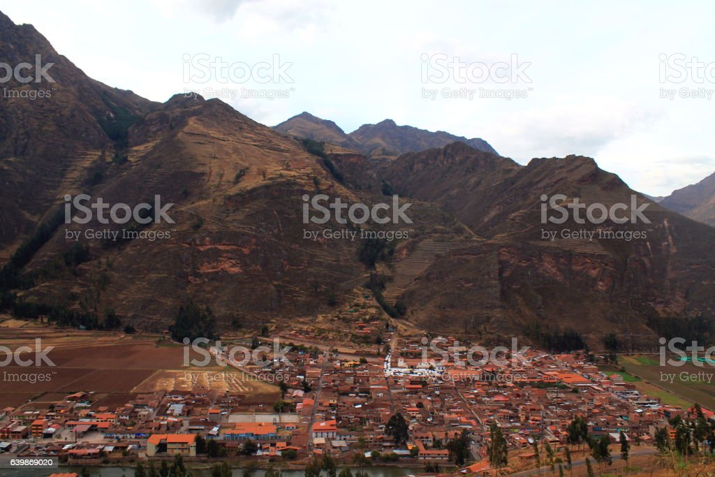the alternative little city of pisac in the sacred valley stock photo