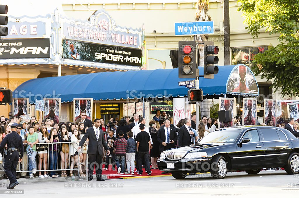 'The Amazing Spider-Man' Movie Premiere royalty-free stock photo