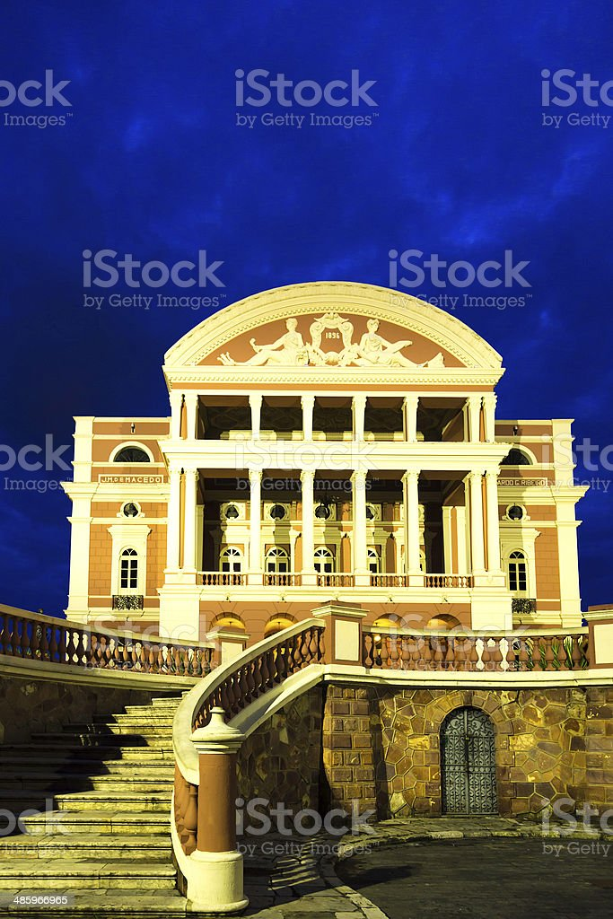 The Amazon Theatre in Manaus, Brazil stock photo