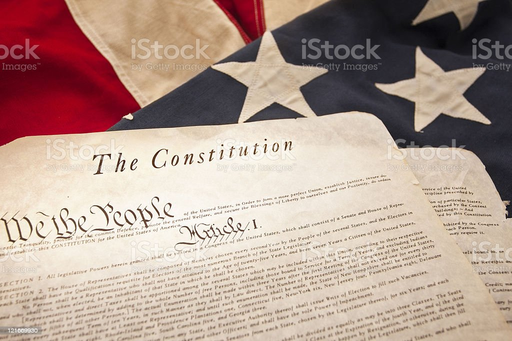 The American Constitution (Selective Focus) stock photo