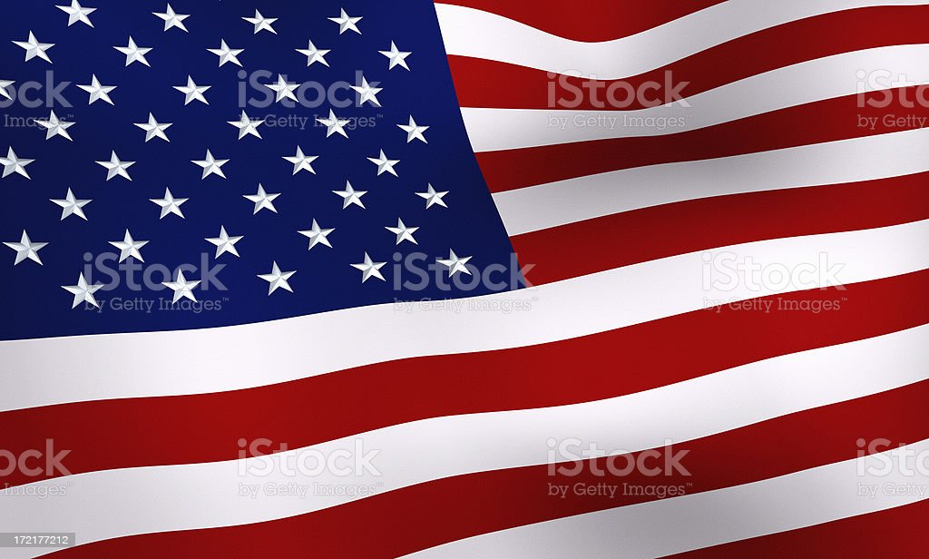The American Flag (XL) royalty-free stock photo