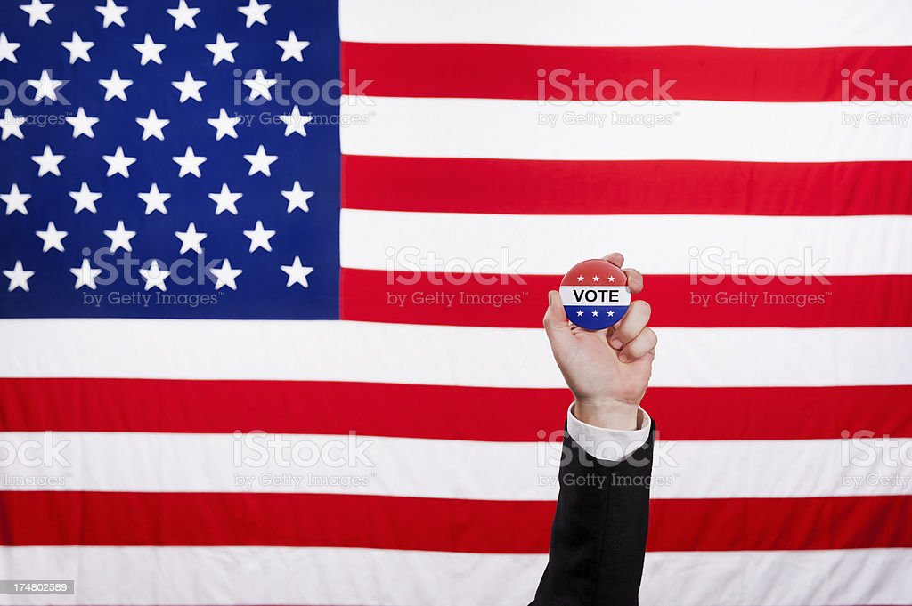 The American Voter - Businessman royalty-free stock photo