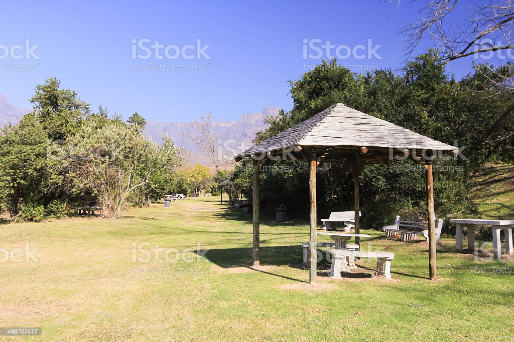 The Amphitheatre in Royal Natal National Park, South Africa royalty-free stock photo