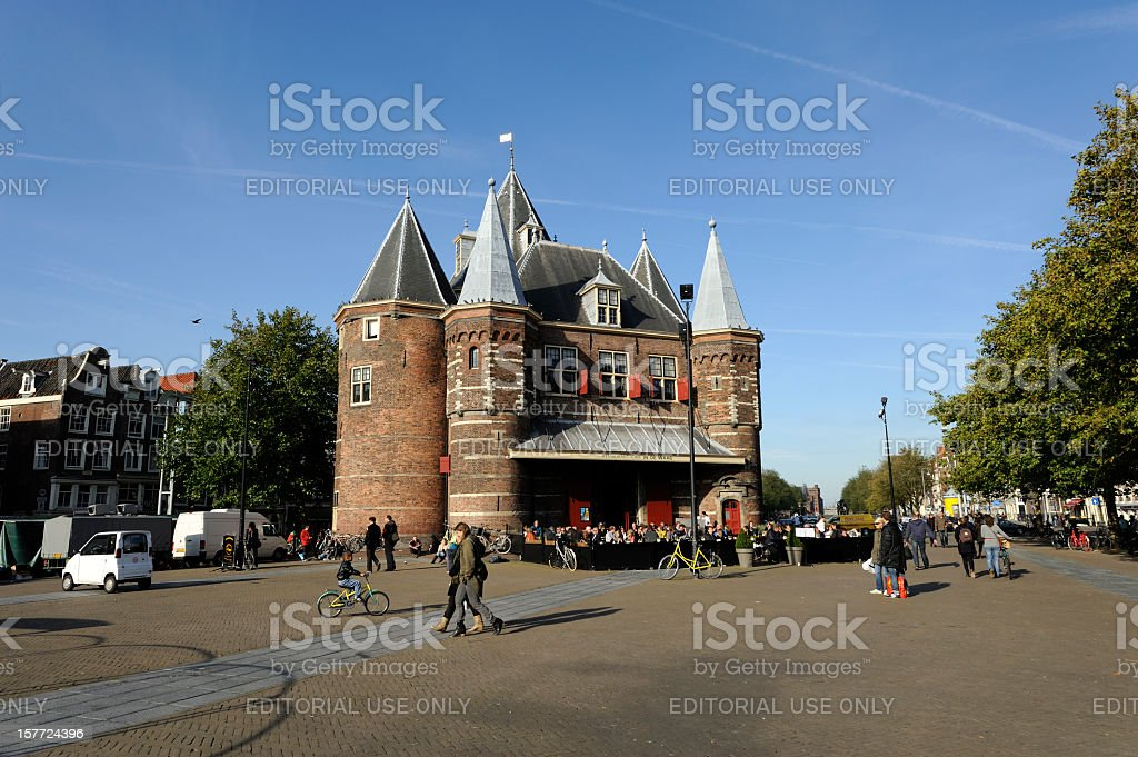 The Amsterdam Waag stock photo