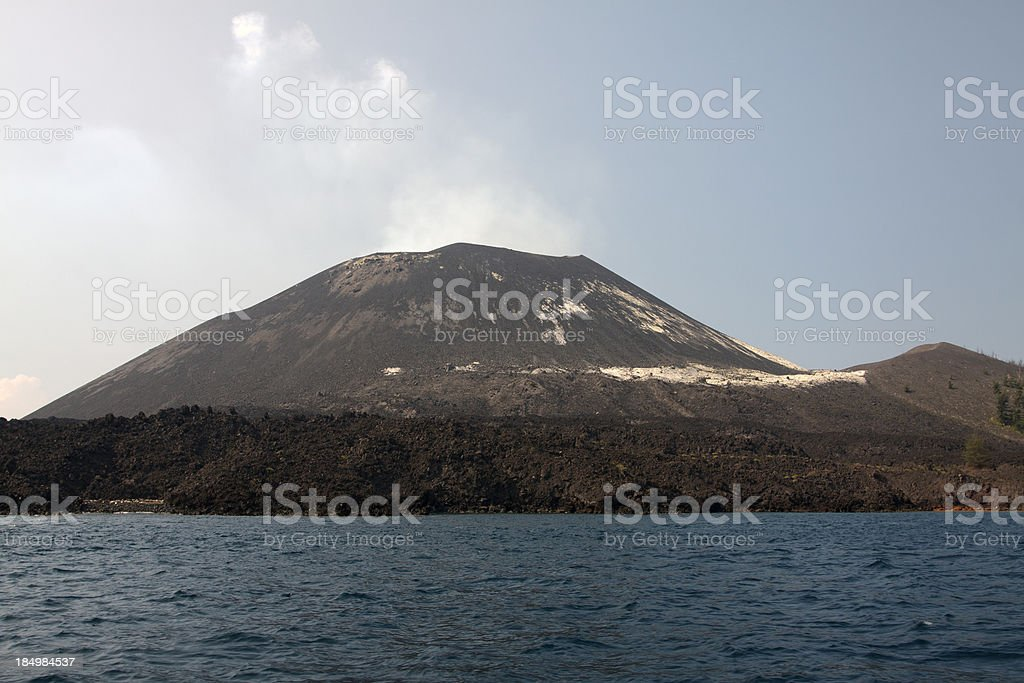 The Anak-Krakatau Volcano stock photo