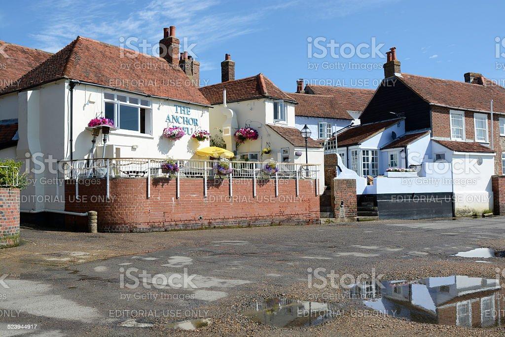 The Anchor Bleu Pub in Bosham. Sussex. England stock photo