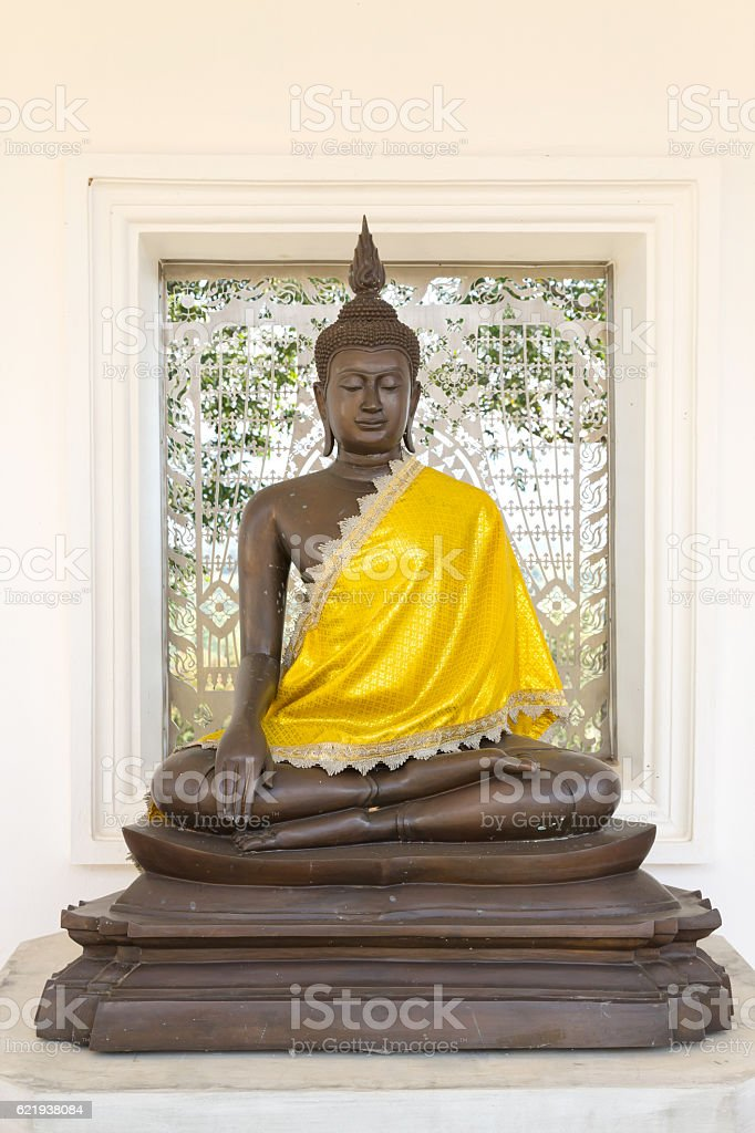 The Ancient Buddha images stock photo