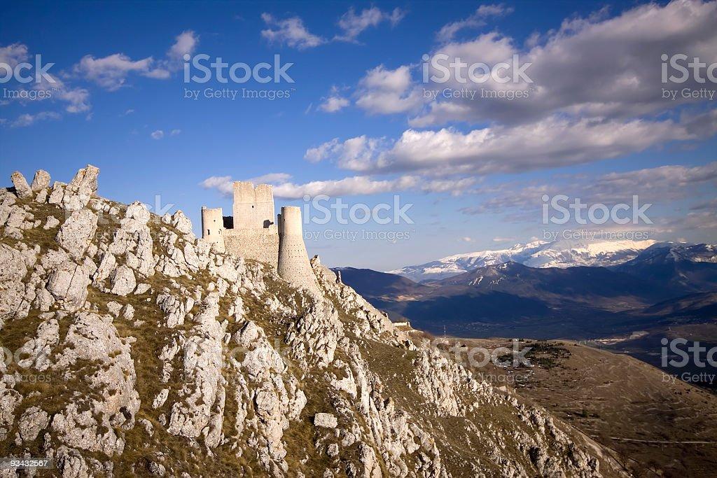 The ancient castle of Rocca Calascio, Abruzzo, Italy royalty-free stock photo