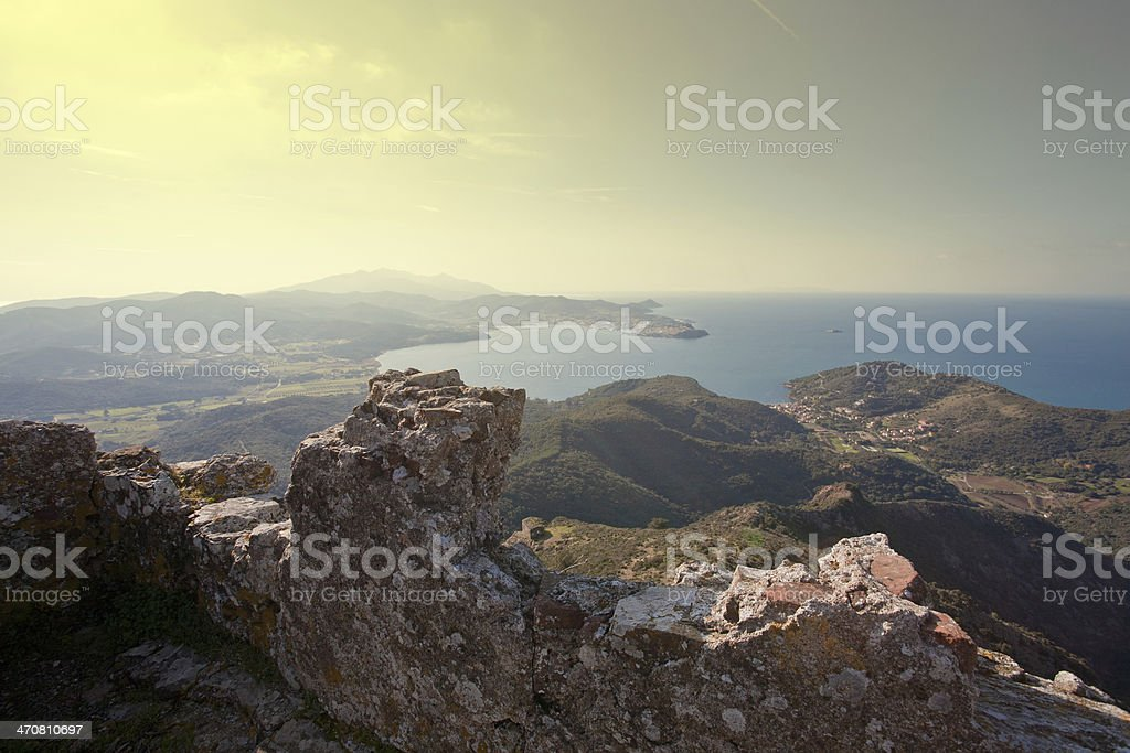 the ancient castle stock photo