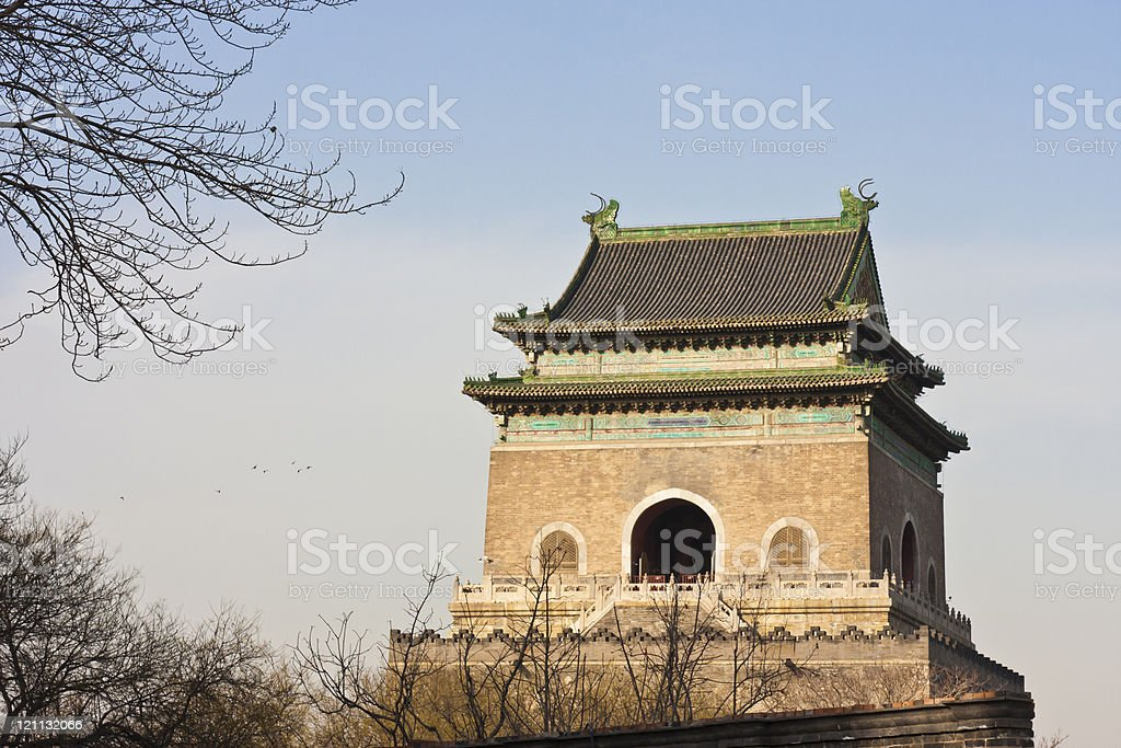The ancient Chinese architecture--Bell Tower stock photo