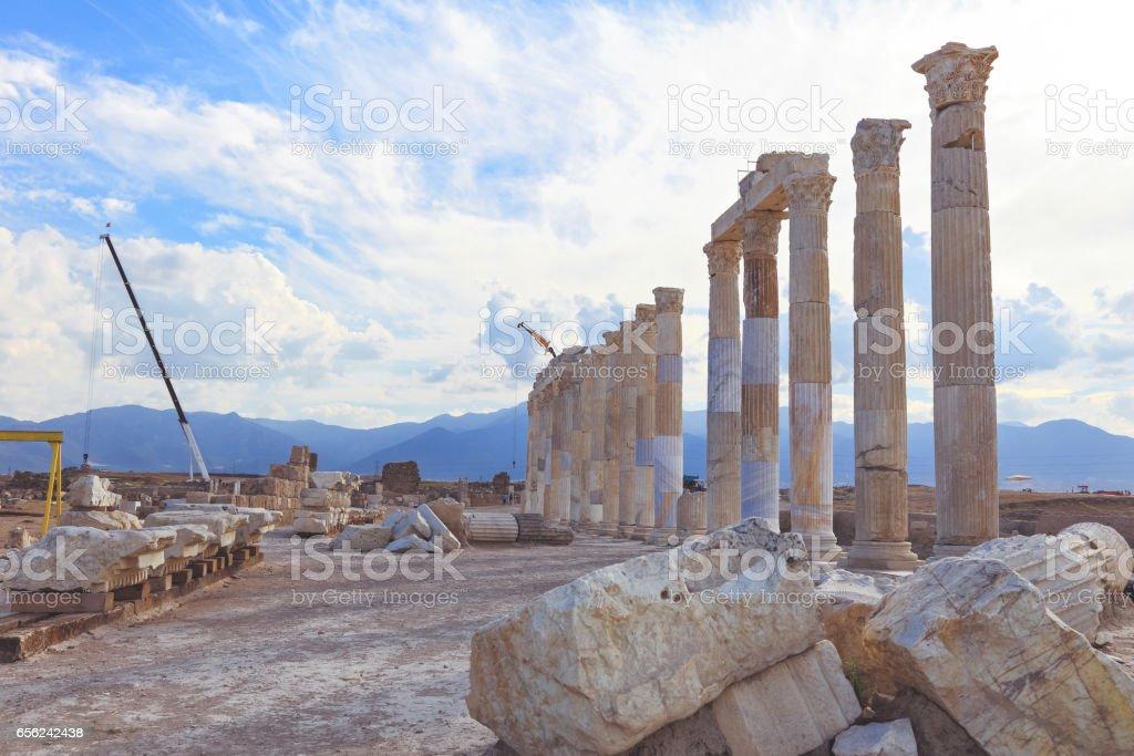 The Ancient City 'Laodikeia, Leodikeia' stock photo