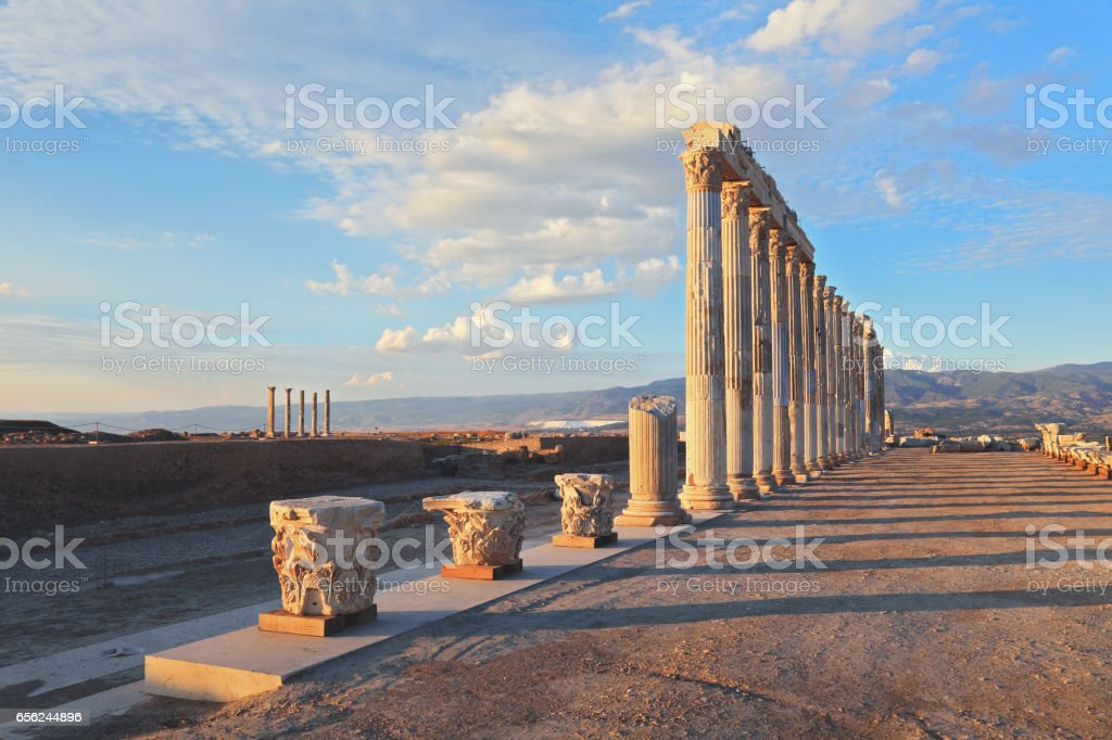 The Ancient City 'Laodikeia, Leodikeia' stock photo